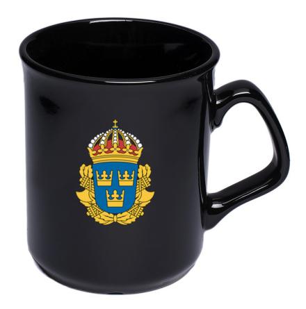 Kaffemugg med polismärke