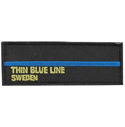 Tygmärke Thin Blue line med kardborre på baksidan