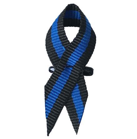 Tygpins Thin Blue Line med säkerhetsnål