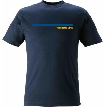 T-shirt Thin Blue Line med blå linje