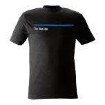 T-shirt Thin Blue Line svart